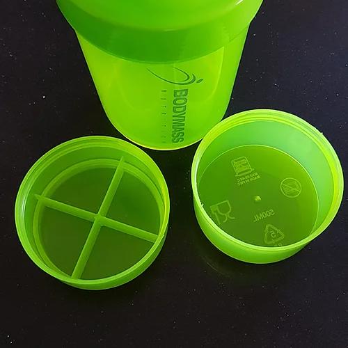 Proteine shaker en voorraadhouder